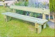 Banc jardin public en bois - Longueur : 2 m