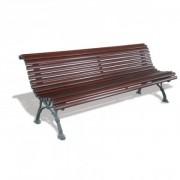 Banc lame en bois - Hauteur du siège (mm) :  440