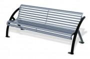 Banc métal ergonomique - Encombrement (mm) : 1950 x 750
