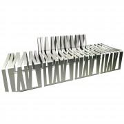 Banc modulaire en aluminium - Modulaire - Longueur : 495 mm