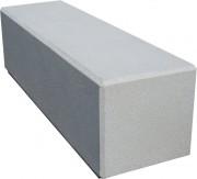 Banc monobloc béton - Dimensions (L x l x h) : 160 x 45 x 45 cm - gris ou blanc