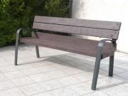 Banc plastique recyclé avec accoudoirs - Bancs et fauteuil - Longueur : 72 à 240 Cm