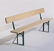 Banc pliant bois - Avec ou sans dossier - Longueur : 200 ou 220 cm