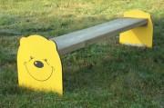 Banc pour aires de jeux pour enfant - Longueur assise : 1200 mm - A fixer - Certifié PEFC