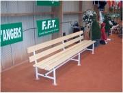 Banc pour joueur en tennis - Ossature métallique poudrée blanche