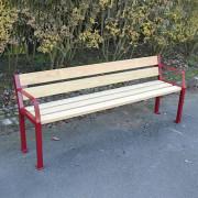 Banc primaire en acier et bois - Acier apte à la galvanisation et bois
