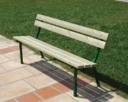 Banc public bois de pin - Dimensions (L x P x H) cm : 160 x 55 x 75