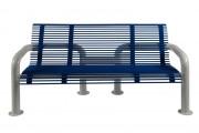 Banc public en acier 1500 mm - Longueur (mm) : 1500