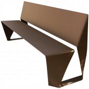 Banc public en acier design - Longueur : 1860 mm