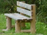 Banc public en bois 5 Lames - Largeur (cm) : 40