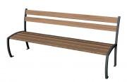Banc public en bois 6 lames - Longueur : 1800 mm