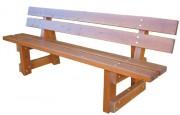 Banc public en bois à sceller - Agréé NF P99-610