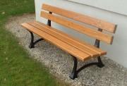 Banc public en bois de mélèze - Modèle : 5 lames - Longueur : 2 m