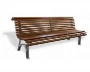 Banc public en bois exotique 2000 mm - Hauteur du siège (mm) : 450
