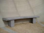 Banc public granit monolithe