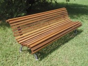 Banc public métal et bois - Dimension (lxpxh) cm : 170 x 55 x 78