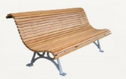 Banc public traditionnel - Longueur : 2000 mm