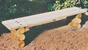 Banc rustique en bois - Dimension : longueur 2 m