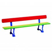 Banc scolaire coloré - Longueur : 1500 mm - Hauteur d'assise : 270 mm