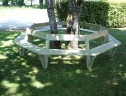 Banc tour d'arbre en pin - Ø intérieur / extérieur : 1150 mm