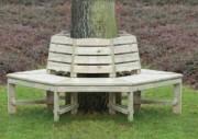 Banc tour d'arbre gabion - Dim ext: 250x250cm  Haut. 50cm ou Dim int: 150x150cm  Haut. 50cm