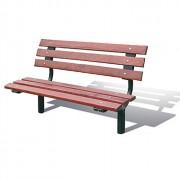 Banc urbain en acier et bois - 2 Longueurs disponibles : 1500 - 1800 mm