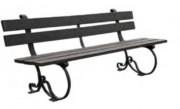 Banc urbain lames en plastique recyclé - Longueur (m) : 2