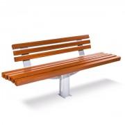 Banc urbain pour ville - En bois exotique - Dimensions (L x l x H) : 2000 x 596 x 1047 mm