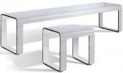 Banc vestiaire matière HPL - Design - Hauteur 445 mm - Profondeur 450 mm