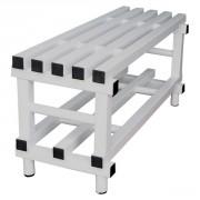 Bancs en PVC pour vestiaires - Dimensions extérieures (L x P x H) : de 1000 x 420 x 490 à 2000 x 420 x 490 mm