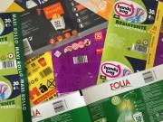 Bande humectable imprimée - Fermeture des rouleaux de sacs poubelles