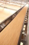 Bande transporteuse pour manutention - Rouleaux porte-bande aux extrémités hermétiques