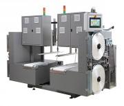 Banderolage longitudinal pour piles de carton ondulé - Cadence : jusqu'à 30 piles/min - Largeur bande : 30 mm