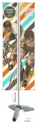Banderole publicitaire double face - Base à remplie (eau) Dimension (Lxh) : 600 x 1500 - 4500 mm