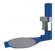 Banderoleuse à plateau tournant à frein électro-magnétique - Table rotative Ø 1500 mm, dimension palette maxi1000x1000 mm.