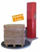 Banderoleuse de palettes verticale - 10 à 100 palettes par jour  -  Consommables machine ou manuel