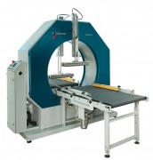 Banderoleuse enrubanneuse horizontale - Machine idéale pour les profilés alu-pvc-acier et autres matériaux,