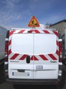 Bandes réfléchissantes pour véhicules utilitaires - 2 modèles : Sérigraphié ou en nid d'abeille