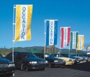 Bannière d'exposition automobile 2.20 x 0.90 m - Dimensions : 2.20 x 0.90 m
