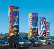Bannière d'exposition automobile 2.50 x 0.90 m - Dimensions : 2.50 x 0.90 m