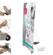 Bannière d'exposition extérieuse en plastique - Base à remplir (eau) - Dimension (Lxh) : 600 x 1800 mm
