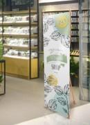Bannière d'exposition légère - Matière : Bambou - Dimensions (Lxh) : 600x1600 - 800x1800mm