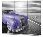 Bannière d'exposition triple affichage - Dimension (Lxh) : 1000 x 2350 mm x 3 pièces