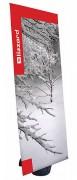 Bannière publicitaire avec pied réservoir - Dimensions du visuel (H x l) : 2000 x 800 mm