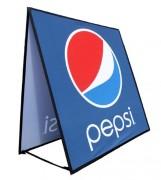Bannière publicitaire dépliante - Dimensions : (0.6 m x 1.2 m) / (0.9 m x 1.8 m) / (1.1 m x 2.4 m)