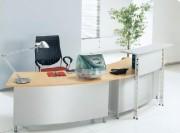 Banque d'accueil design - Dimensions du comptoir en cm  : 156x935x110