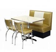 Banquette avec chaise américaine - Dimensions (l x p x h) :112 * 61 * 91.5 cm