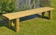 Banquette bois classique - Longueur : 2 m