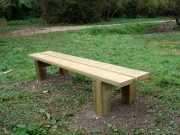 Banquette campagnarde - Longueur 2000 mm - Planches assises 45 x 195 mm