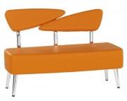 Banquette coiffure 2 places - Revêtement en cuir souple - Coloris au choix